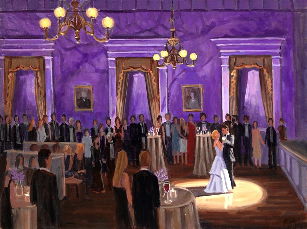 Hibernian Hall | Live Wedding Painting