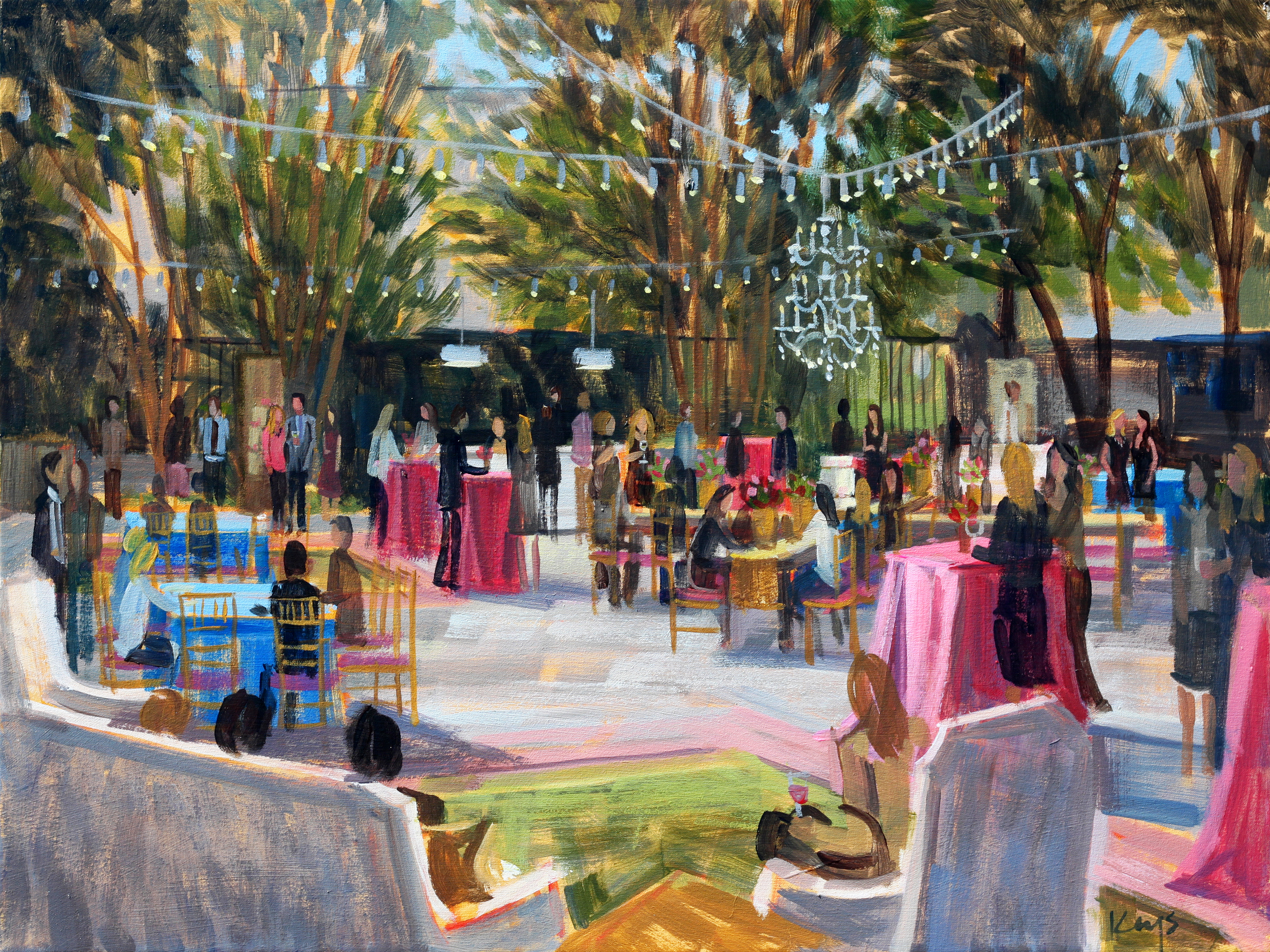 The Knot Market Mixer | Live Party Painting
