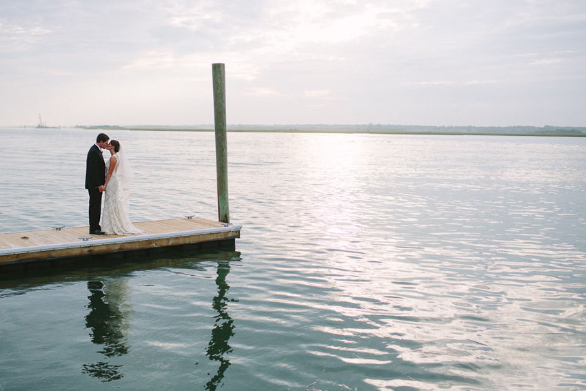 dock-bridal-portrait-lace-gown-wrightsville-beach-wedding
