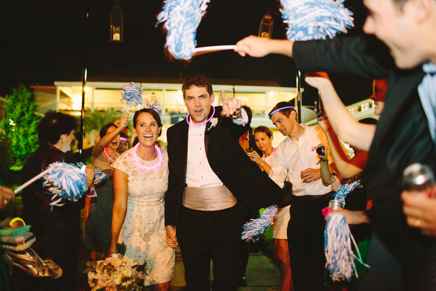 wed-on-canvas-unc-chapel-hill-pom-poms-for-reception-exit