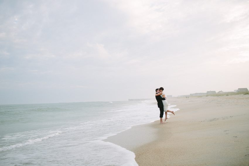 bride-and-groom-on-the-beach-wed-on-canvas-wrightsville-wedding-artist