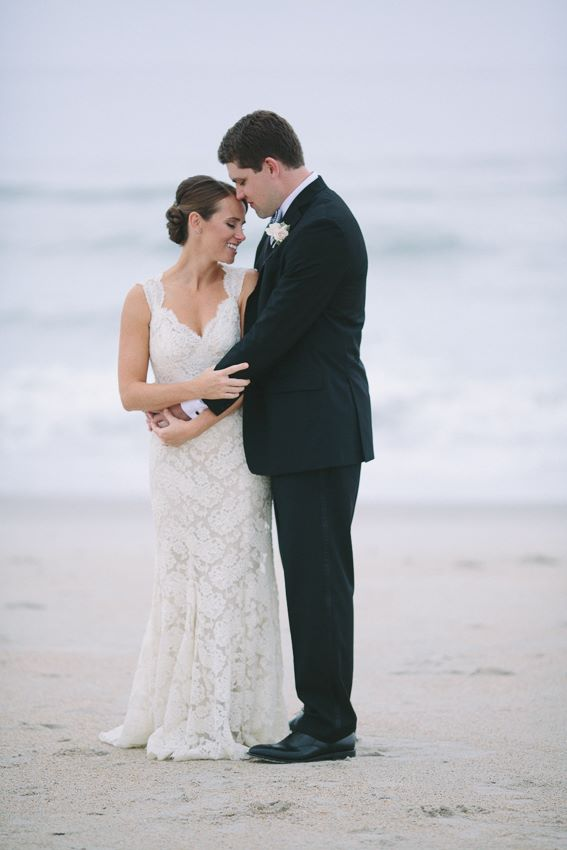 bride-and-groom-lace-gown-on-beach-wrightsville-wilmington-nc-wedding-painter