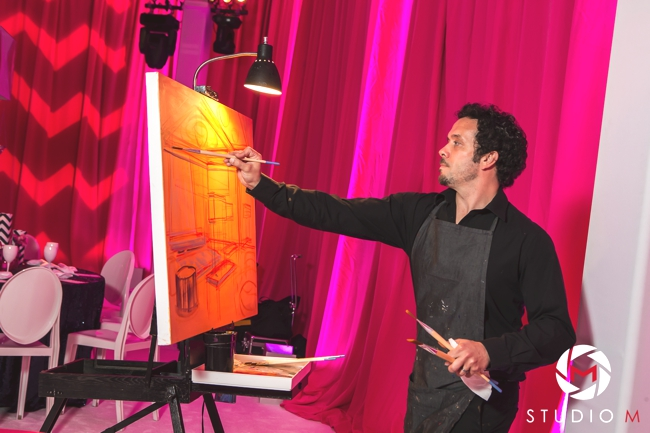 ben-keys-ballroom-event-artist-of-wed-on-canvas-painting-live-during-bat-mitvah