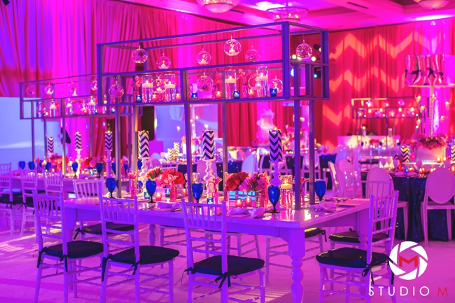 hot-pink-bat-mitzvah-south-florida-luxury-planning-navy-chevron-white-carpet