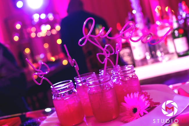 bow-tie-crazy-straws-hot-pink-bat-mitzvah-party-south-florida-wed-on-canvas-artist-ben-keys