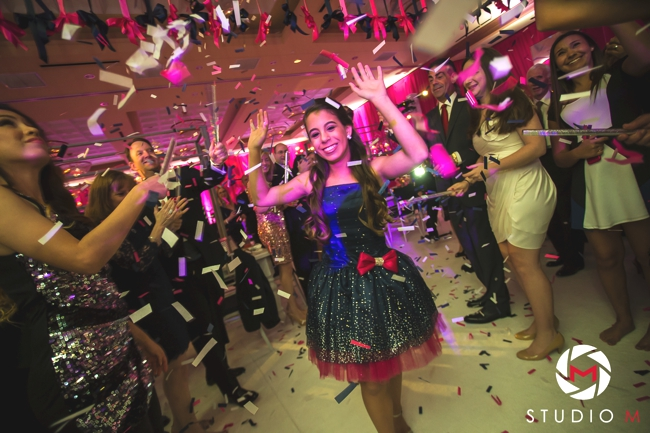 bat-mitzvah-confetti-dreams-navy-and-hot-pink-dress-ben-keys-artist-south-florida