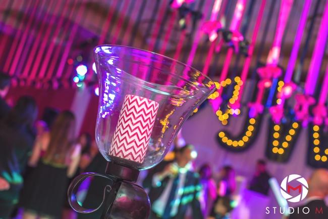 studio-m-photography-bat-mitzvah-artist-ben-keys-wed-on-canvas-fuchsia-chevron-marquee-lights-event-decor