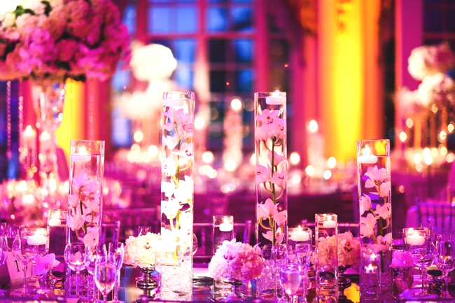 radiant-orchid-tablescapes-each-table-with-different-place-setting
