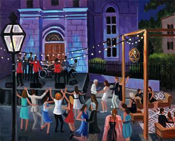 Spoleto Festival Opening Fete | Live Event Painting