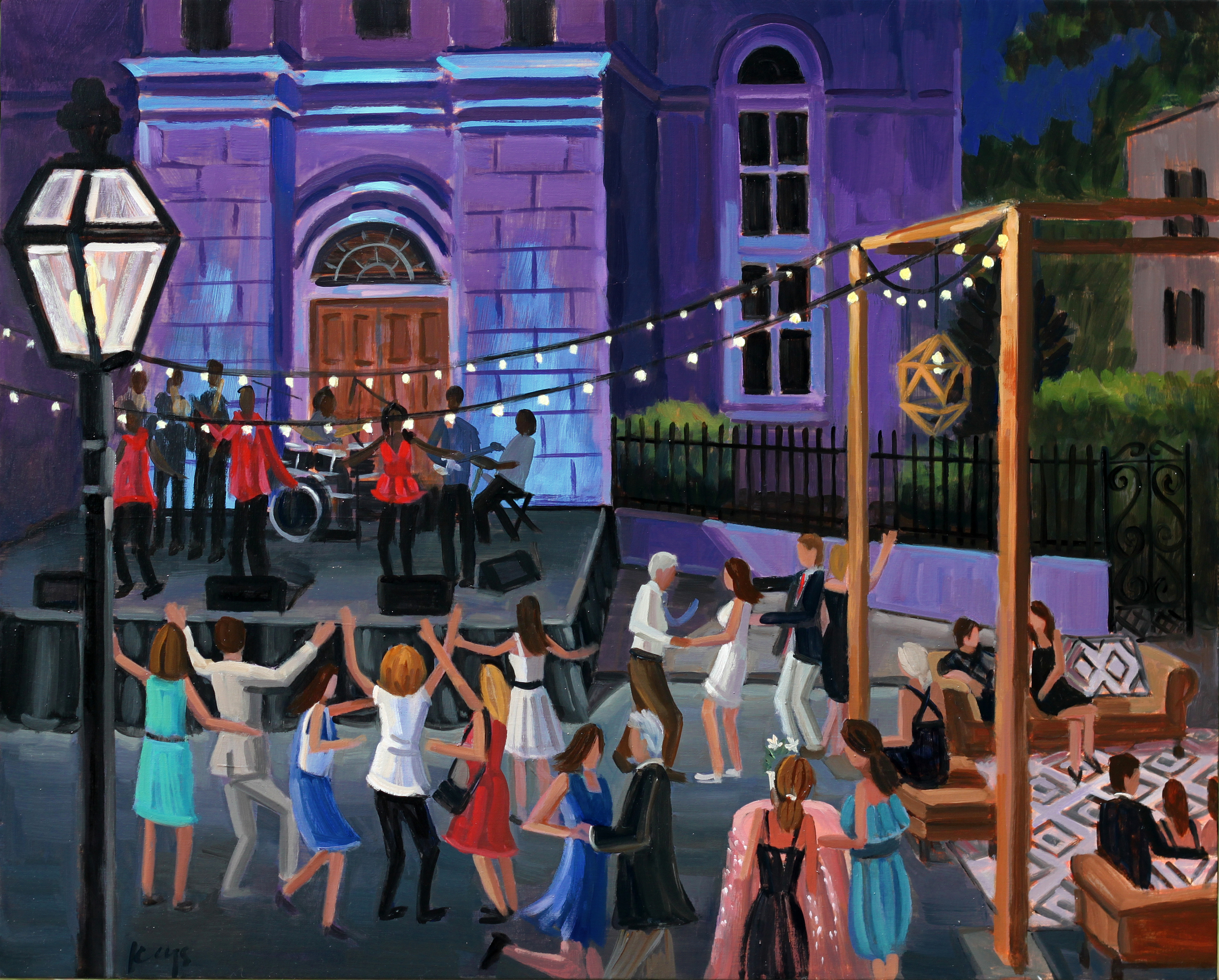 Spoleto Opening Night Fete  | 24 x 30 in. | Oil on Canvas