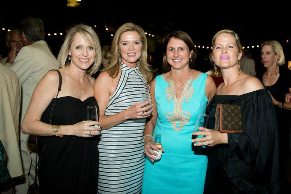 ladies-enjoying-opening-night-fete-spoleto-festival-usa-artist-ben-keys-wed-on-canvas-painter