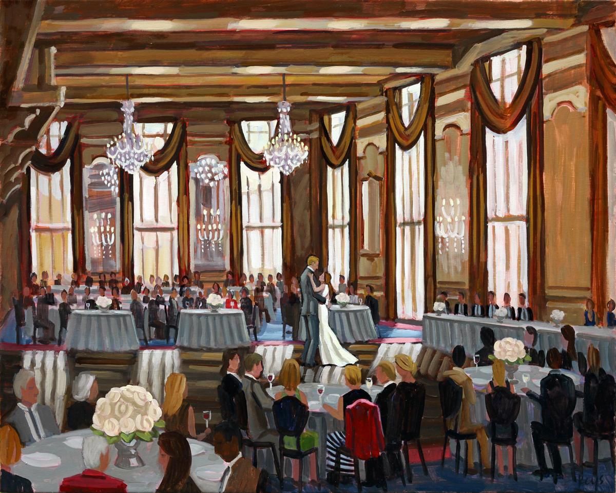 Missouri Athletic Club | Live Wedding Painting