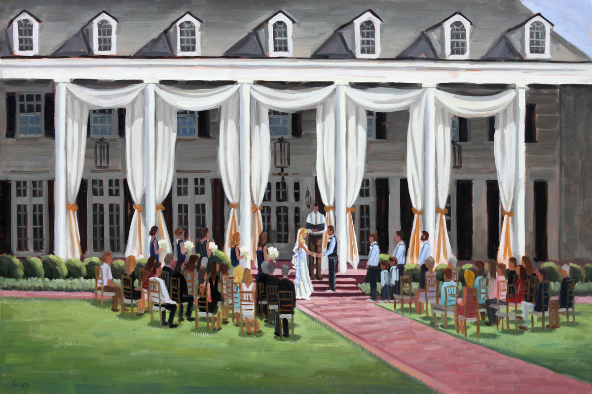 Pine Lakes Country Club | Live Wedding Painting