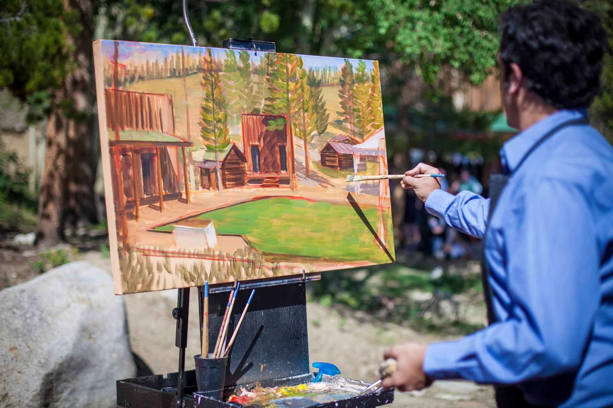 wedding-painting-beginning-at-wedding-reception-dry-gulch-placer-breckenridge-colorado-wedding-artist-live