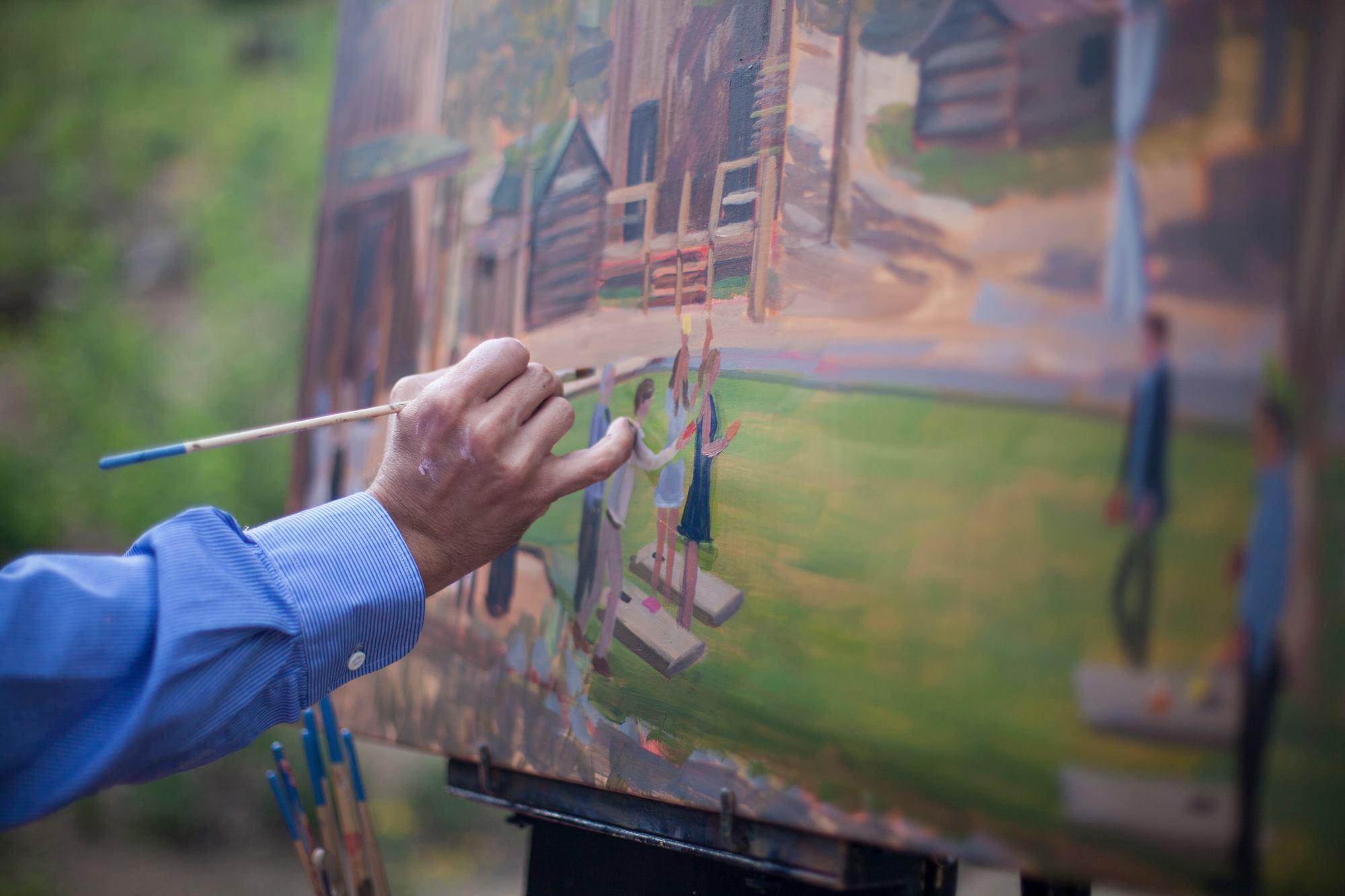 Live Wedding Painting | Breckenridge, CO