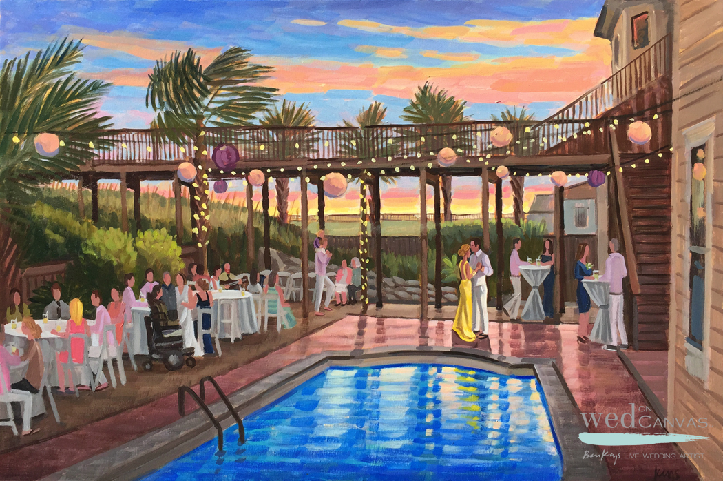 Abigail and JJ, 24 x 36 in. Live Wedding Painting