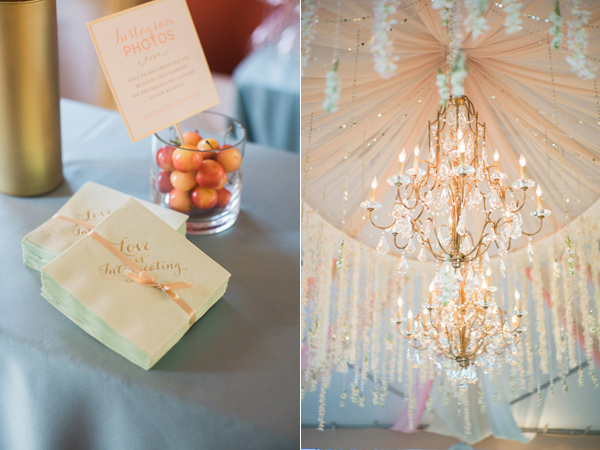 hanging-floral-chandelier-with-petals-and-crystals-in-wedding-tent
