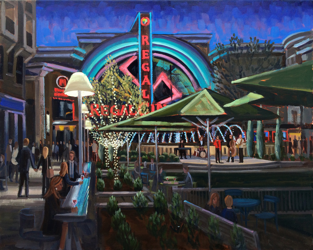 Avalon's Grand Opening | 24 x 30 in Oil on Canvas
