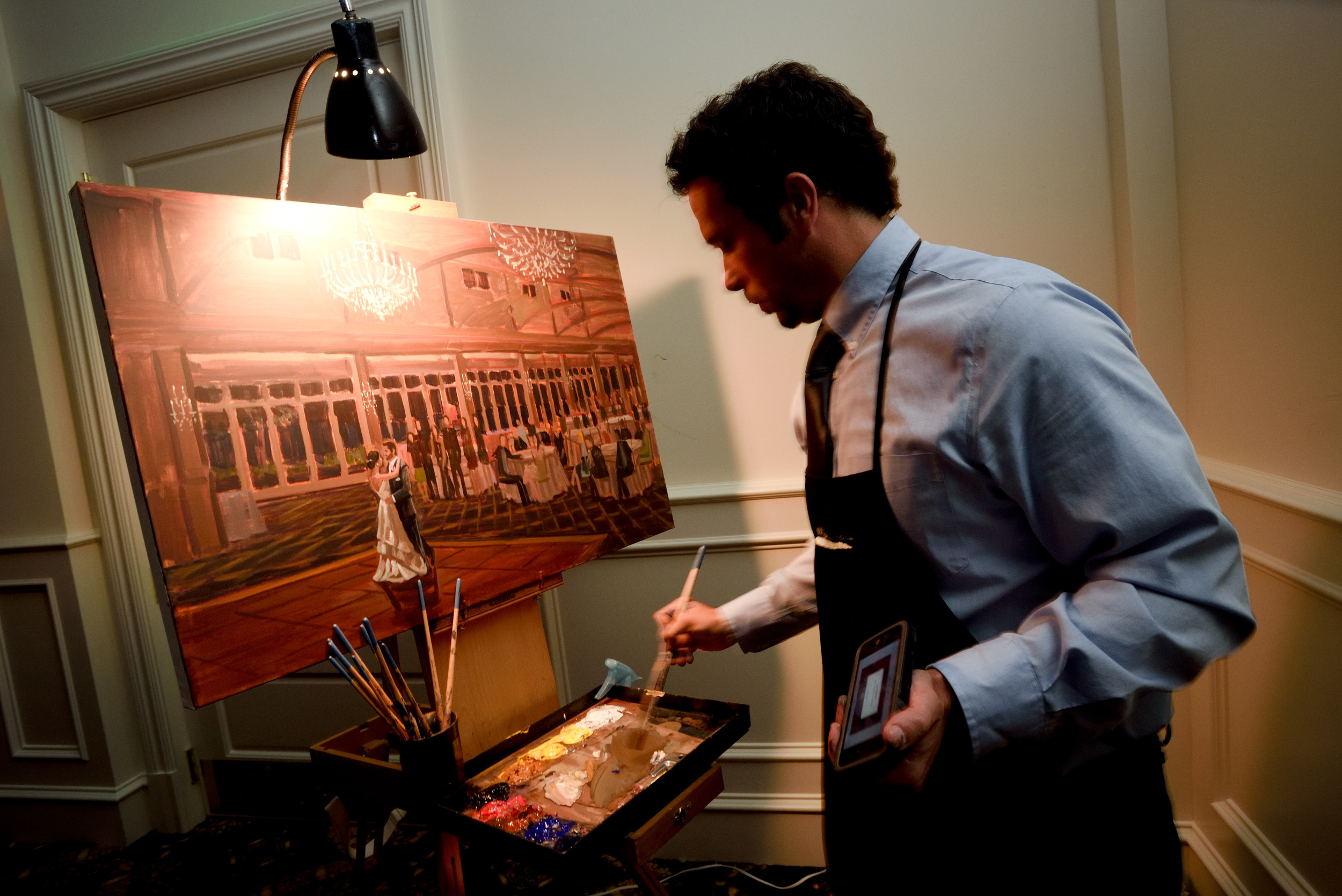 charlotte-event-artist-wed-on-canvas-live-wedding-painting