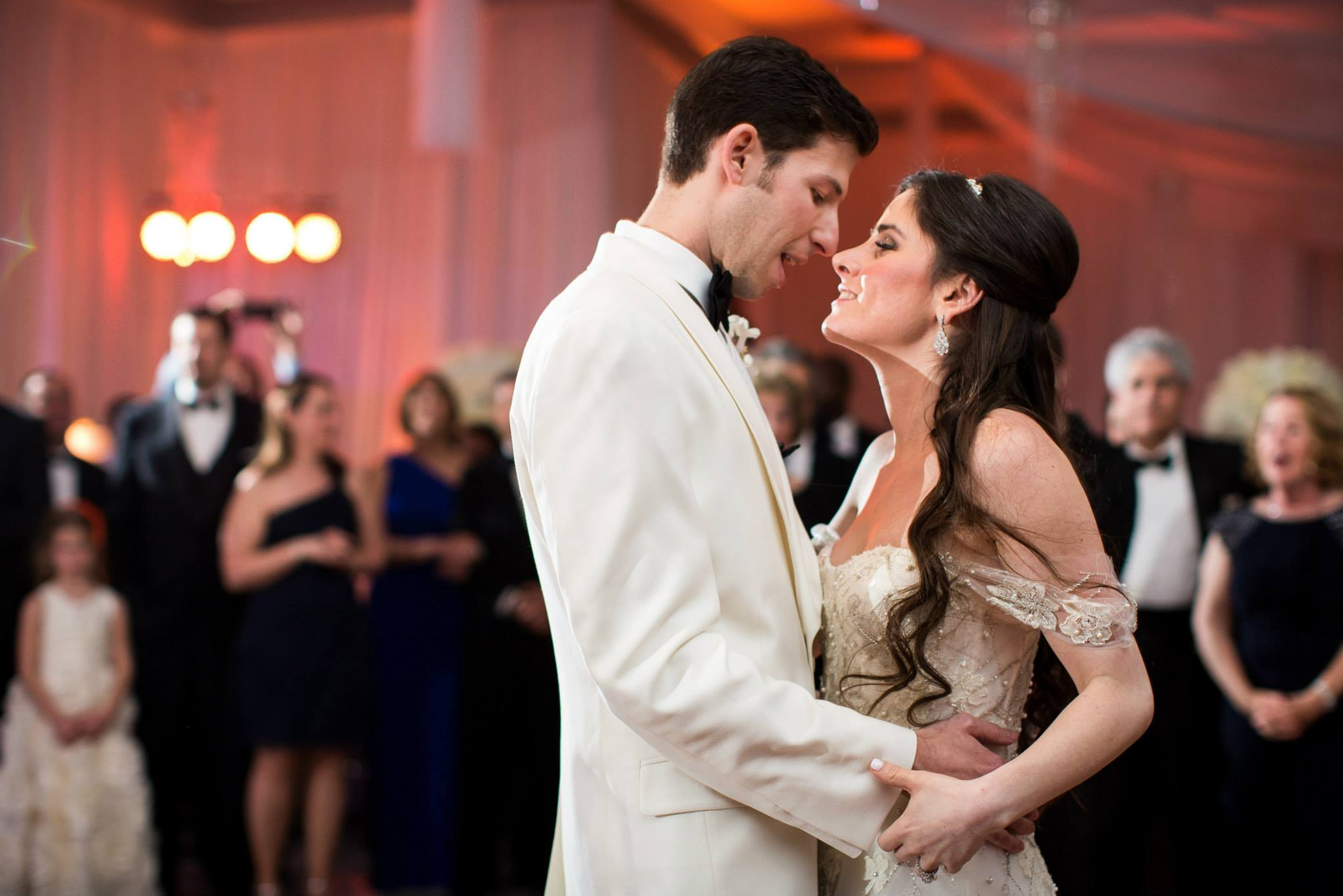 first-dance-boca-raton-the-polo-club-wedding-artist-ben-keys-wed-on-canvas-off-the-shoulder-monique-lhuillier-gown-luxe-wedding-artist-ben-keys-wed-on-canvas