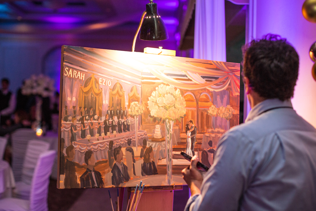chicago-artist-ben-keys-painting-live-during-chicago-wedding-reception-wed-on-canvas-live-wedding-painter