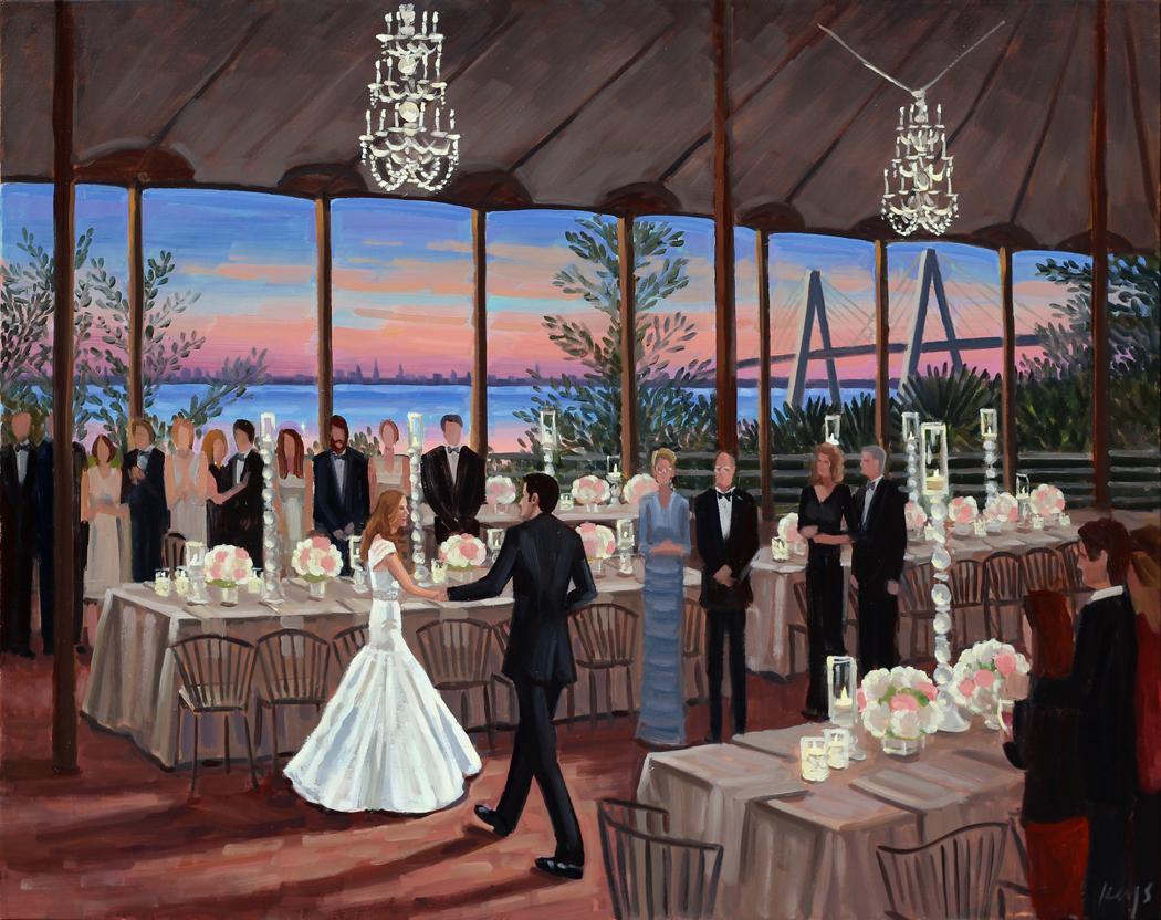 Jena + Todd | Live Wedding Painting