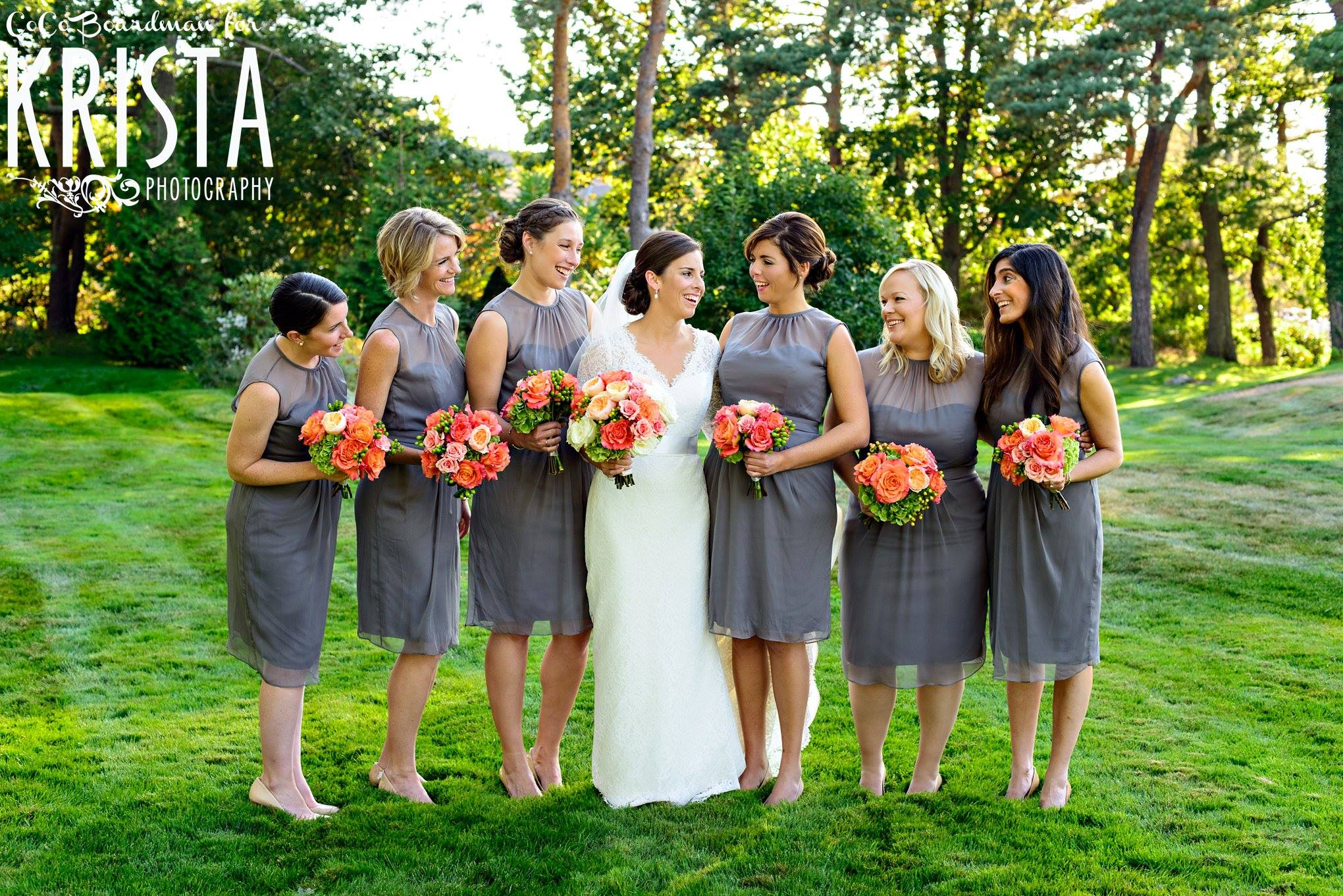 coral-bridal-bouquet-gray-bridesmaid-dresses-new-castle-nh-wedding-painter-ben-keys-wed-on-canvas