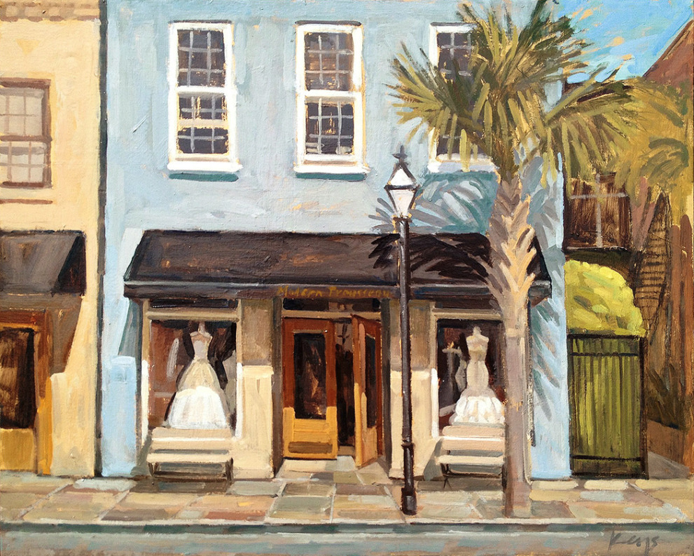 modern-trousseau-charleston-king-street-painting-boutique-painting-wed-on-canvas-ben-keys-art-wedding-artist