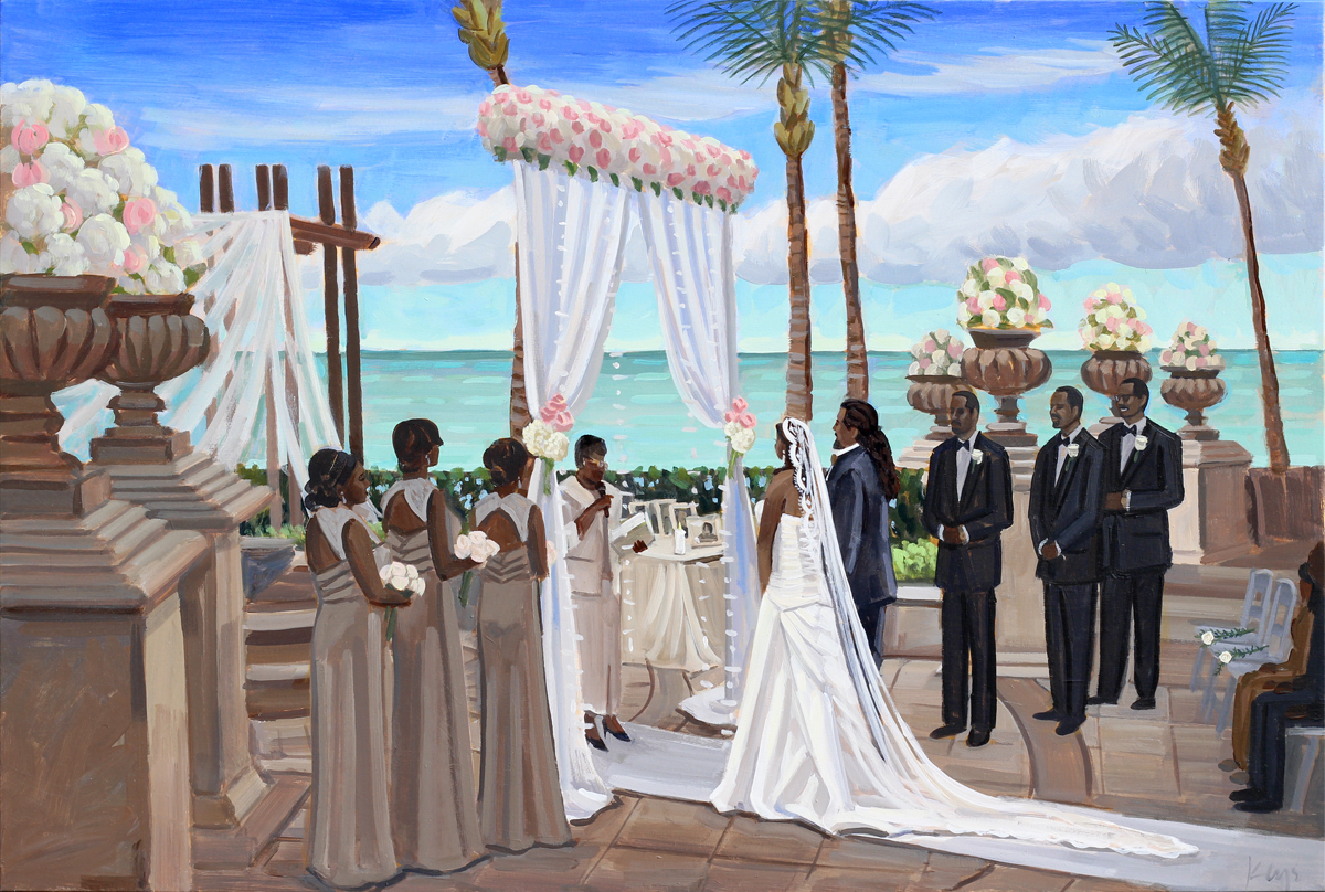 24 x 36 in. | Live Wedding Painting