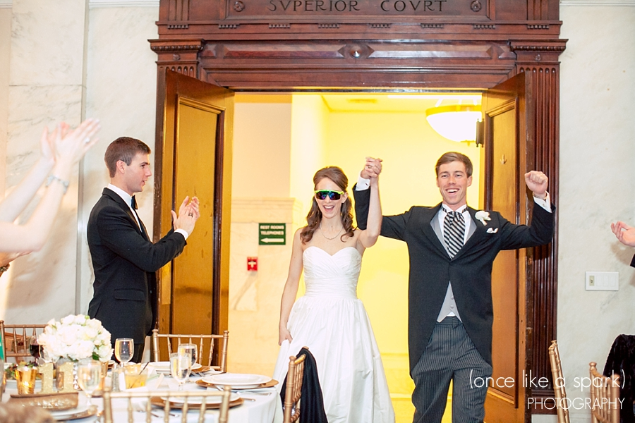 bride-and-groom-cool-entrance-atlanta-wedding-reception-old-courthouse-on-the-square-wed-on-canvas