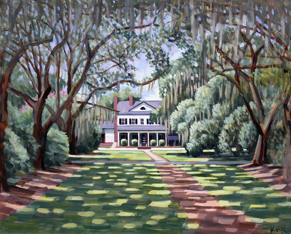 Legare Waring House | 24 x 30 in. Oil on Canvas Prints on Canvas and Original Painting Available