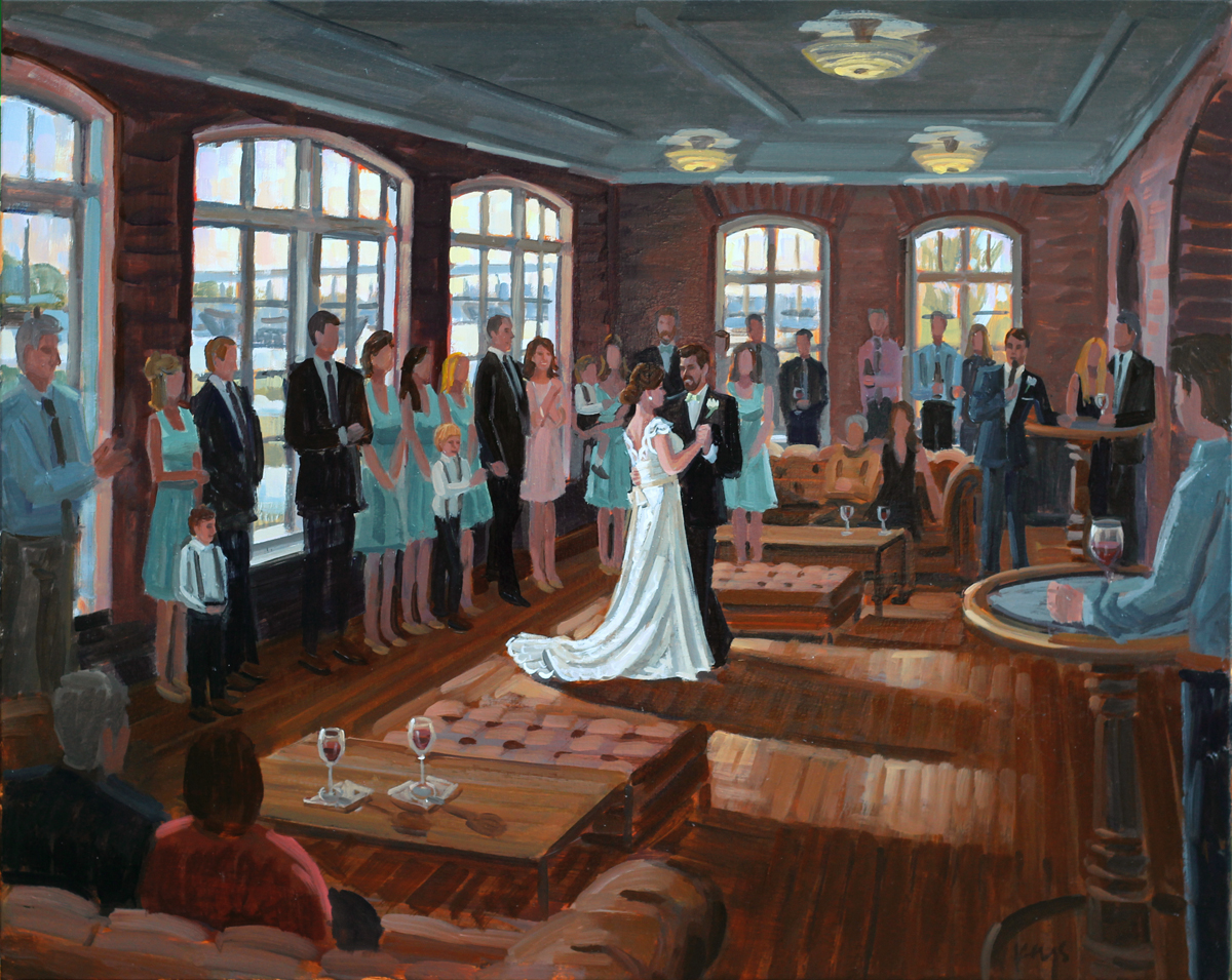 Historic Rice Mill Building | Live Wedding Painting