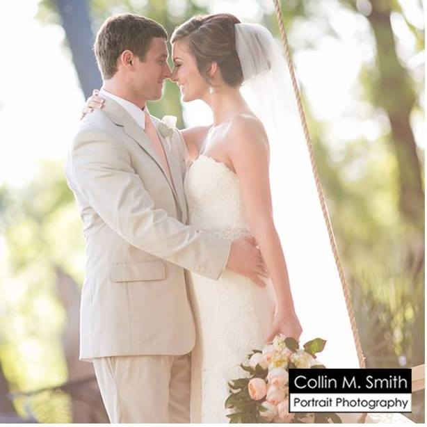 modern-trousseau-charleston-bridal-gown-south-carolina-southern-backyard-wedding-ceremony-tan-suites-coral-tie