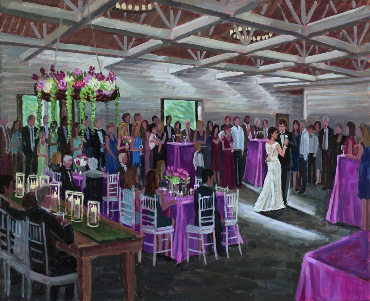 Wildberry Farm | Live Wedding Painting