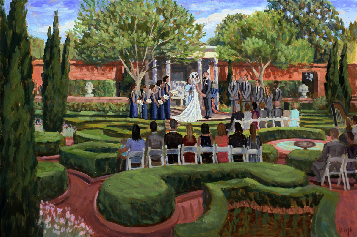 Tryon Palace | Live Wedding Painting