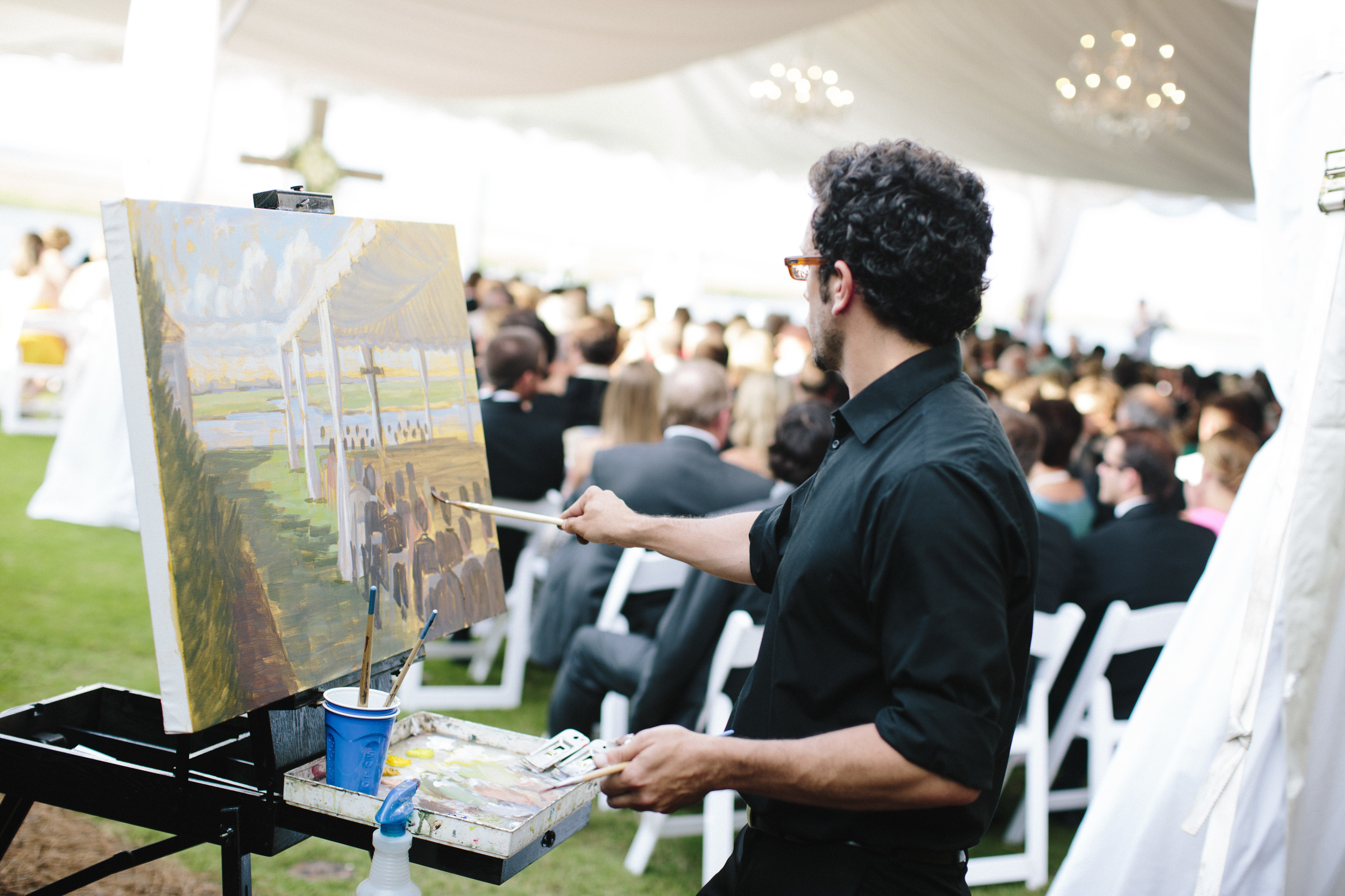 Ben Keys of Wed on Canvas | Live Wedding Painter