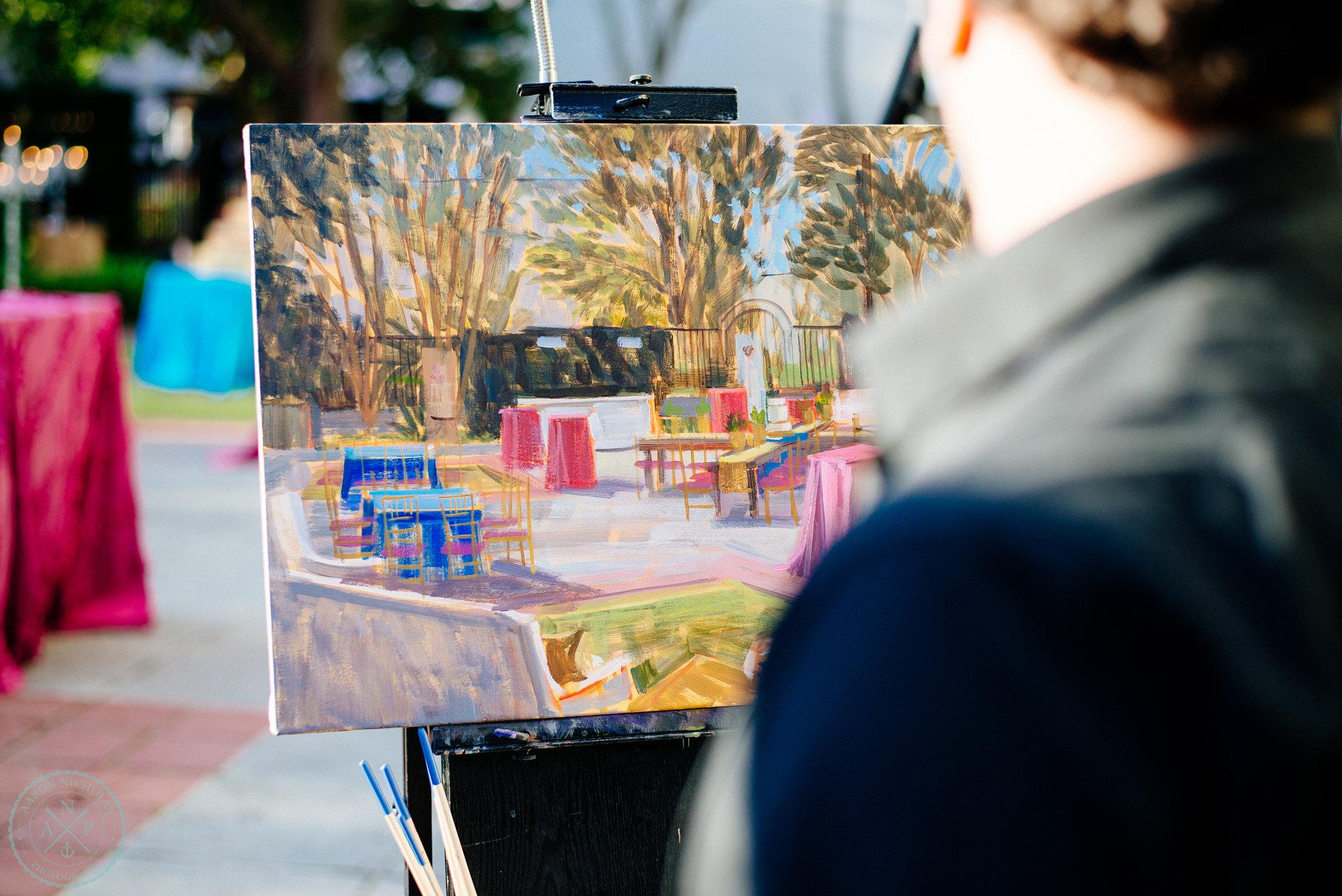 The Gibbes Museum, Charleston   Live Wedding Painting