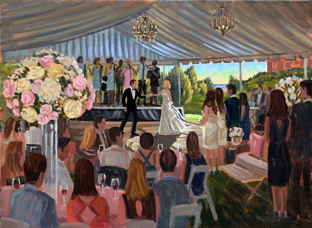 The Sanctuary on Kiawah Island, Live Wedding Painting