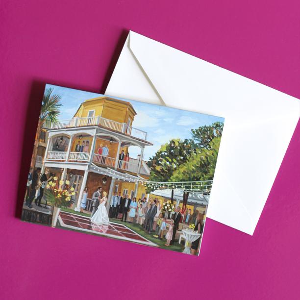 William Aiken House | Charleston, SC | Live Wedding Painting