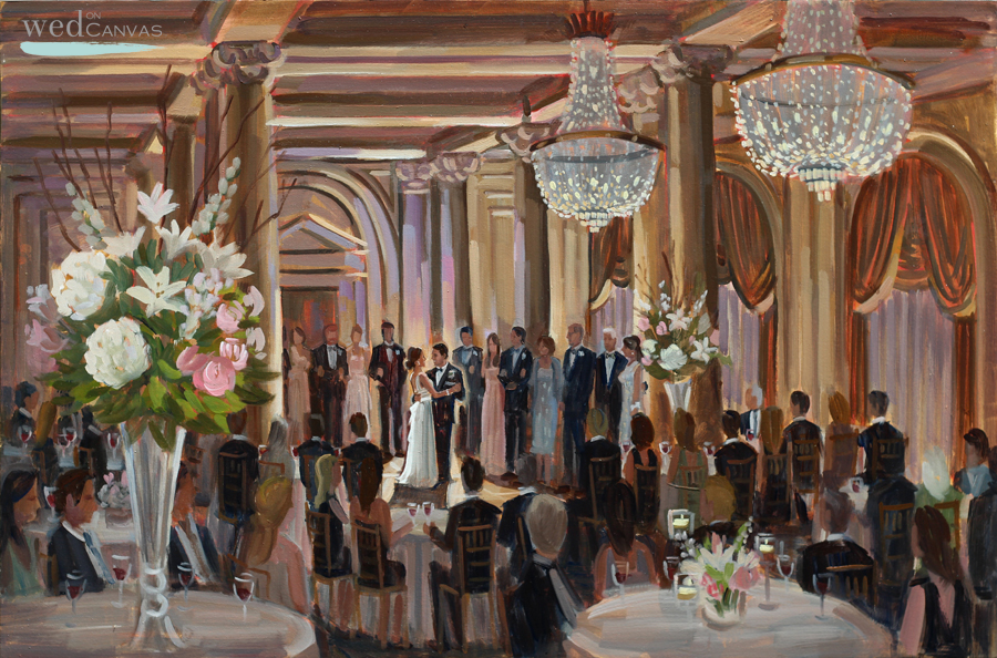 The Jefferson Hotel, Richmond, VA | Live Wedding Painting