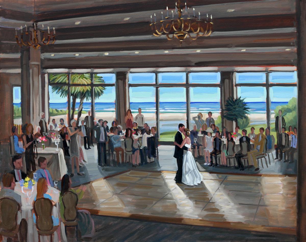 Dunes Golf and Beach Club | Live Wedding Painting