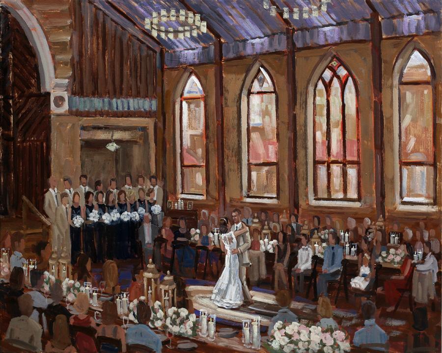 Brooklyn Arts Center | Live Wedding Painting