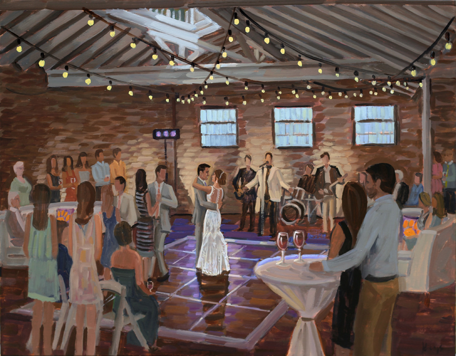Bakery 105 | Live Wedding Painting
