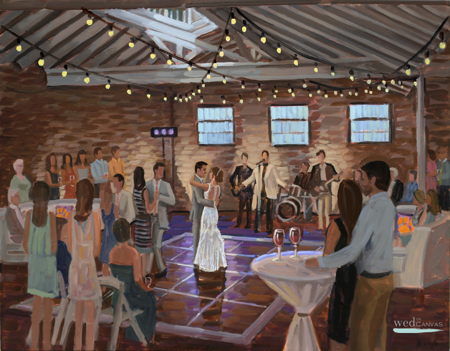 Beth + Nick | Bakery 105 | Live Wedding Painting