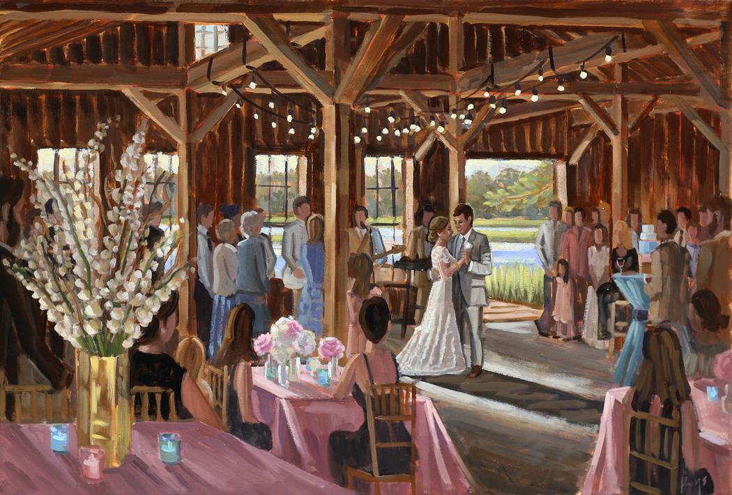 Charleston Live Wedding Painting