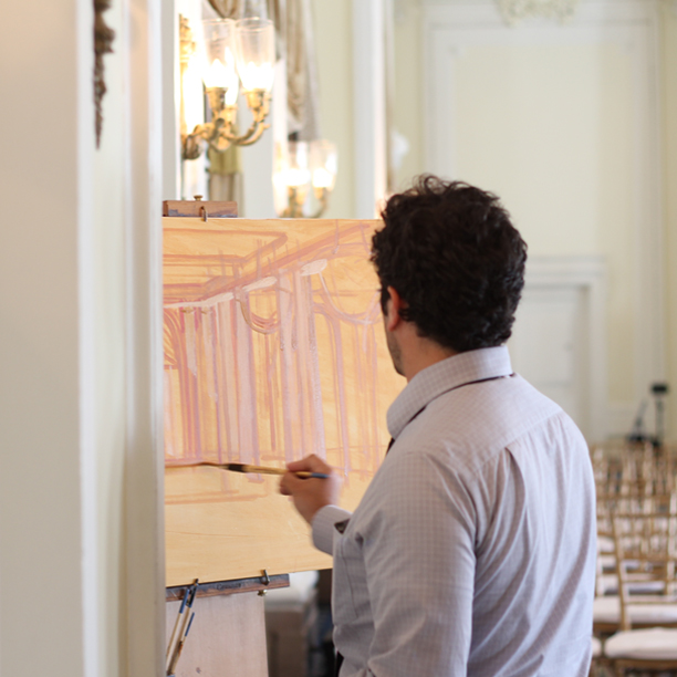 Live Wedding Painter, Ben Keys of Wed on Canvas | Photo by Wed on Canvas