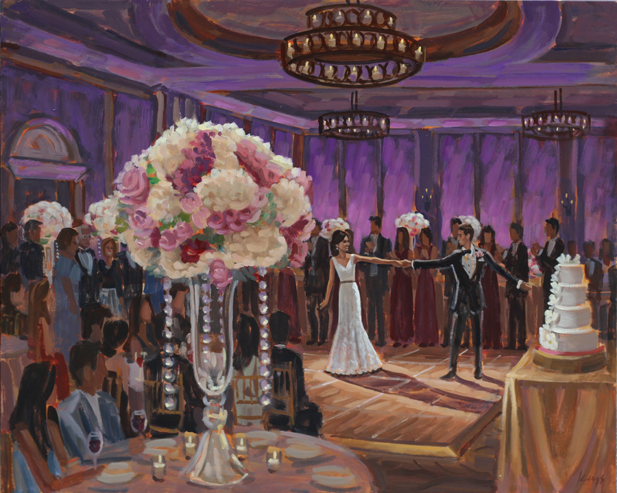 Live Wedding Painting at The Salamander Resort
