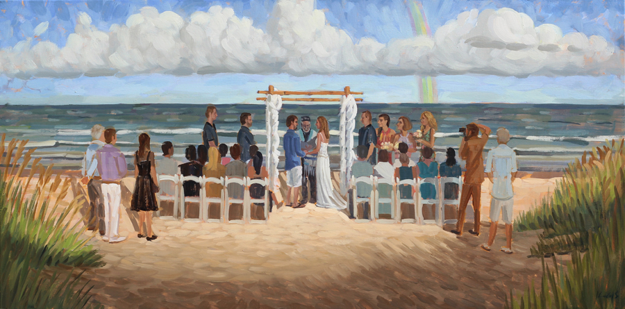 Live Wedding Painting at Palmetto Dunes Oceanfront Resort