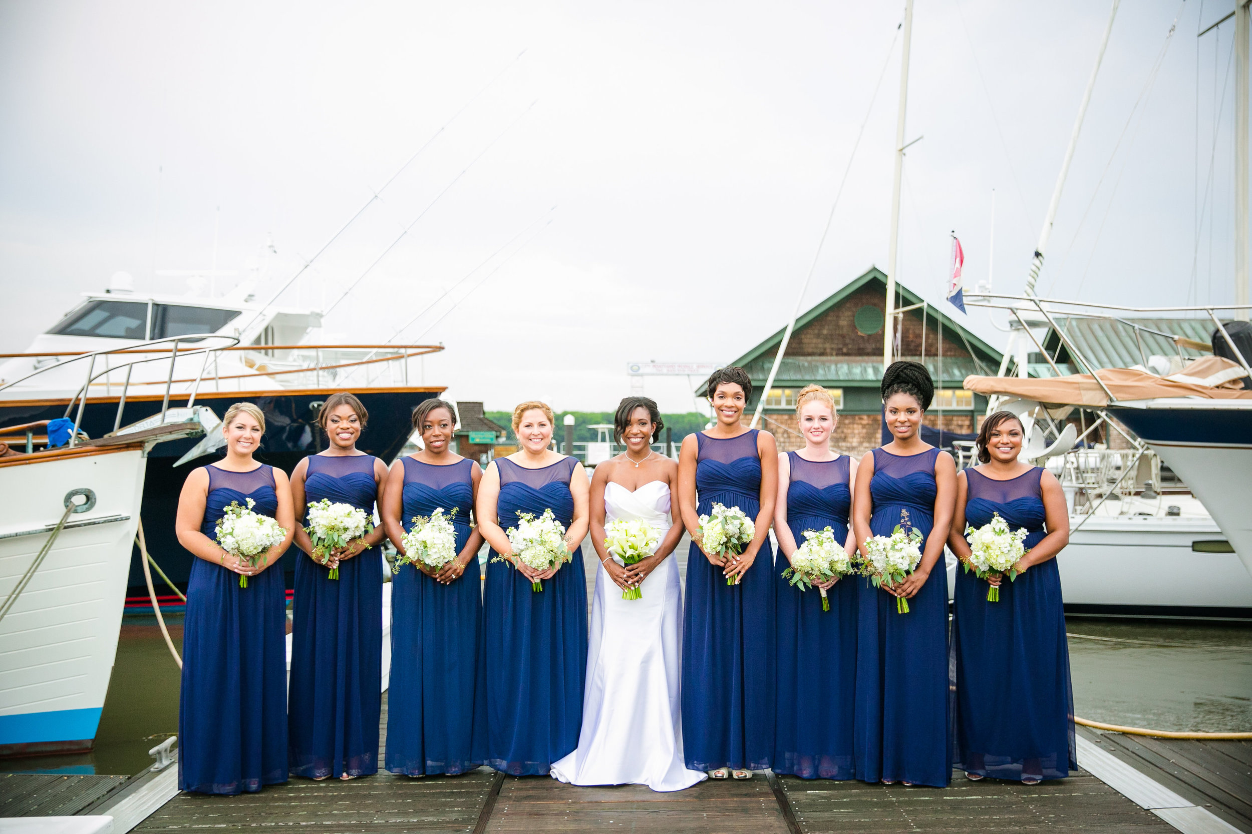 royal-blue-bridesmaid-dress-nautical-wedding-portrait