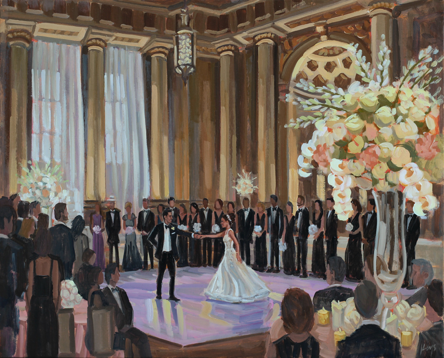 Live Wedding Painting at The Mellon Auditorium in Washington, DC